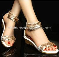 European Style HW11283 Gold Coins Sandal Chains