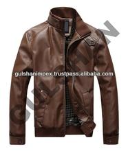 2014 HOT Man's Fashion Guenine Leather Jacket / Men Fashion Jacket