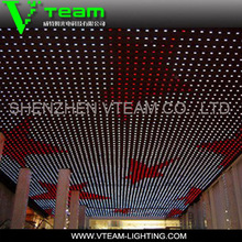 MJ series P40 - 160 mm folding led screen flexible led matrix curtain for stage background / decorative lighting / media facade