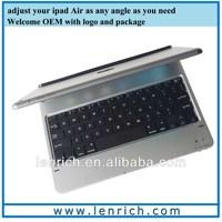 LBK162 Aluminum alloy Wireless Bluetooth Keyboard slim Case Stand for iPad air