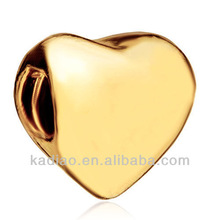 Golden Heart European Beads Gifts For Mom Mother Fit All Brands
