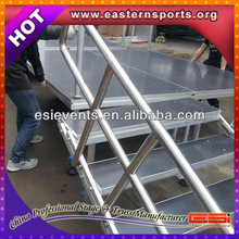 Aluminum Dance Plywood Stage With 4 Legs For Heavy-Duty Stage