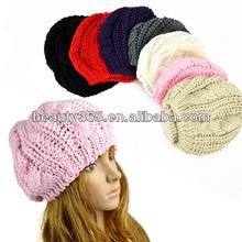 Winter crochet pumpkin beanie hat baggy beanie hats winter skiing cap