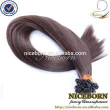 Best quality flat tip hair extension machine prebonded hair