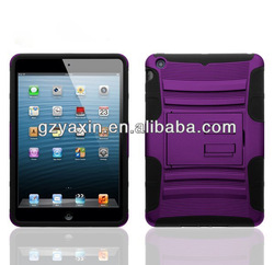 Case for mini ipad,Heavy Duty Hybrid Rubberized Armor Cover Case With Kickstand For Apple iPad Mini