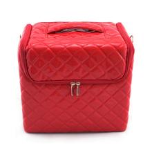 Leather Red Cosmetic Storage/Organizer Box Makeup Kit
