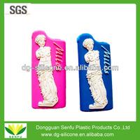 Designer logo silicone lighter cover