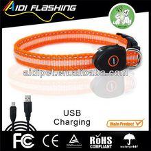 USB&solar rechargeable LED flashing dog pet shock collar electric fence underground