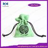 handmade eco velvet pouch drawstring