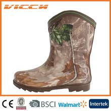 vintage camo kids rubber rain boots