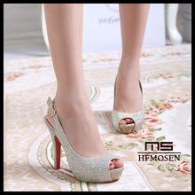 S4240 wedding shoes 2013 high heels sandals dress shoes rhinestone sexy women's pumps