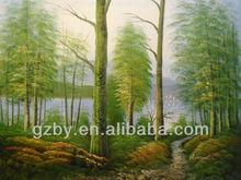 2014 simple painting modern landscape