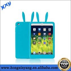 silicone rabbit case for ipad mini, FDA silicone cover