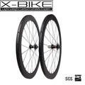Buen precio del camino 700c carbón del freno de disco de la rueda, Carbón de la bicicleta juego de ruedas de 50 mm