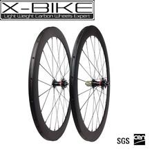 Good price 700c road disc brake carbon wheel,bicycle carbon wheelset 50mm