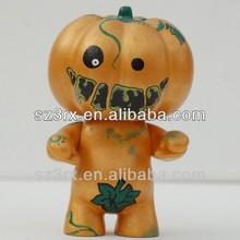 plastic pumpkin for kids;large plastic pumpkins;cartoon pumkin vinyl toy