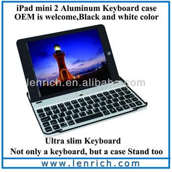 """LBK131 For iPad mini Aluminium Stand & Bluetooth Keyboard Case Cover for iPad mini 7.9"""""""