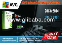 AVG Internet Security 2013/2014 + Antivirus - 1 Year