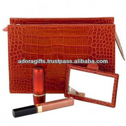 cheap price portable makeup bags / fashion lady bulk makeup bags / 2015 newest makeup bag wholesale in leather