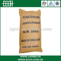 Calcium lignosulphonate textile bonding agents