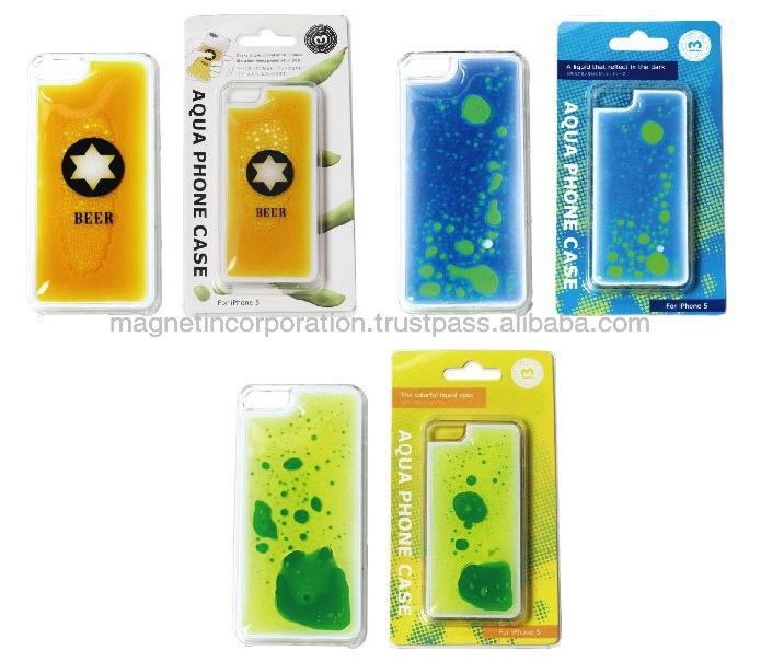 [Wholesale Novelty Gift]Plastic Liquid Oil Mobile Phone Case for iPhone 5, 5s, 5c (Beer / Liquid Blue / Liquid Yellow)