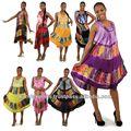 Mexicano vestidos das mulheres& tie dye beautiful& tie dye vestidos guarda-chuva vestido cortado jaipur made vestidos