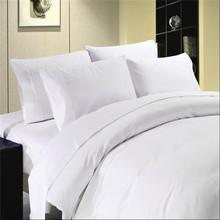T400 hotel cotton sateen plaid white duvet cover set