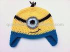 Crochet yellow minion hat minion beanie hat