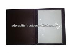 ADAMC - 0026 wine menu covers cheap / high quality transparent menu holder / new style leather menu covers wholesale