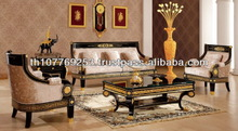 Luxury Black -Silver &Gold leaf Classic Furniture Set