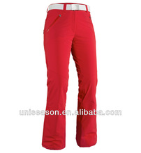 Breathable waterproof polyester adult ski pants 2015