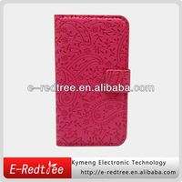 plum skin leather smart stand flip wallet case for iphone 5