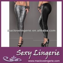 yeni moda deri serseri gümüş siyah patchwork kadın tozluk