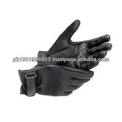 Black Color Custom Fit Ridding Gloves