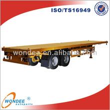 Flatbed Truck Double Axle Trailer Sale