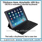 LBK170 For iPad Air Keyboard / Magnetic Removable Bluetooth 3.0 Keyboard With Leather Case