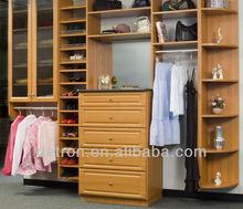Floor standing wood clothing display shelf BW-194