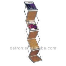 Floor standing wood folding display shelf BW-197