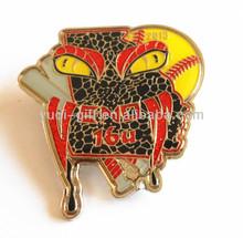 END 16U SPIDER custom medal badge softball emblem soft enamel with epoxy