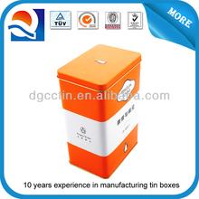 gift tin bottle tin wine tin box / vintage tin case / wine metal tin can