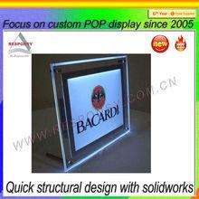 Modern design advertising acrylic led frame display