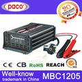 La batería del coche cargador dc 12v/5a mbc1205 casa cargador de batería