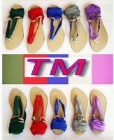 Sandals with interchangeable ties