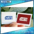 Oferta de la fábrica chip de Ntag203 , impermeable Adhesivo de PET, Etiqueta de NFC