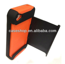 Credit Card Hard Shell Stand Combo Case For iPhone 4 4S
