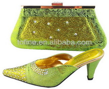 italian fashion wholesale 2013 women shoe and bag set for party