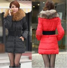 2014 Winter Thick Extra Large Fur Collar Down Coat Women's Medium-long Down Jacket Outerwear ...