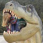 Blue Plush Dinosaur from Tiger Statue Maker