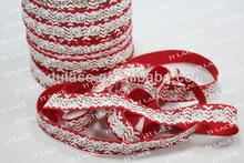 christmas decoration -christmas elastic, fold over elastic, headband elastic, hair tie elastic, pattern FOE