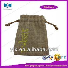 china jute drawstring bag promotion